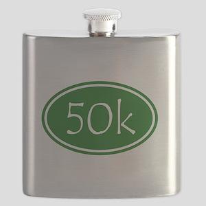 Green 50k Oval Flask