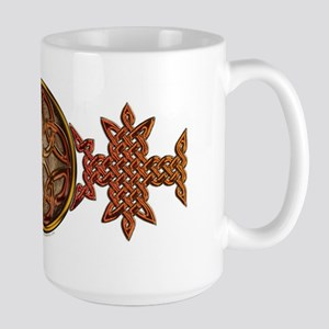 Celtic Knotwork Enamel Large Mug