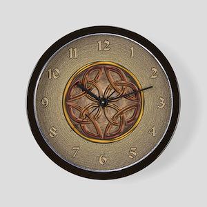 Celtic Knotwork Enamel Wall Clock