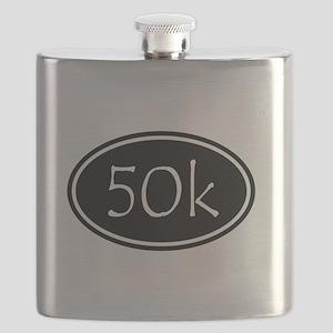 Black 50k Oval Flask
