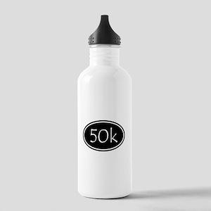 Black 50k Oval Water Bottle