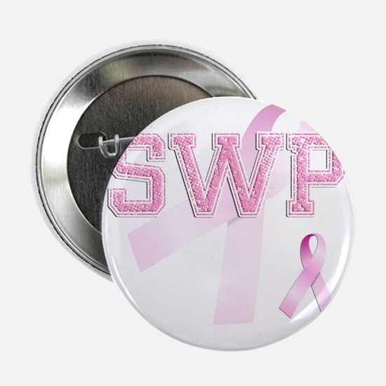 """SWP initials, Pink Ribbon, 2.25"""" Button"""