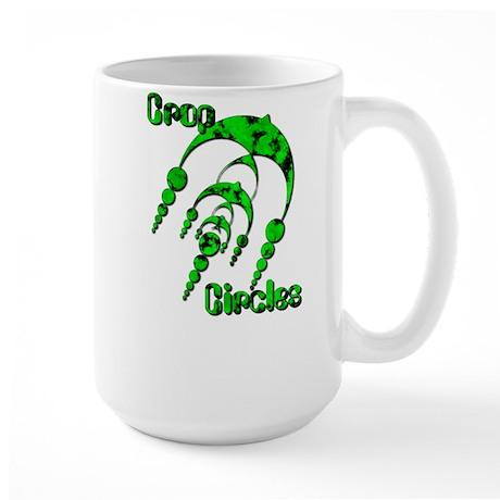 Crop Circle #3 Green Large Mug