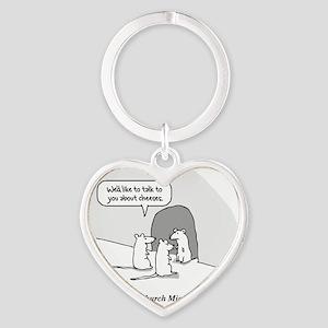 Church Mice tee Heart Keychain