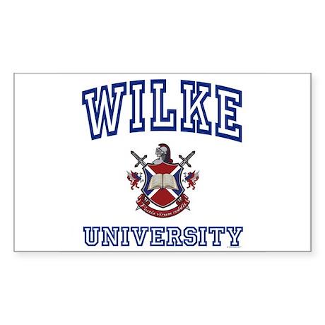 WILKE University Rectangle Sticker