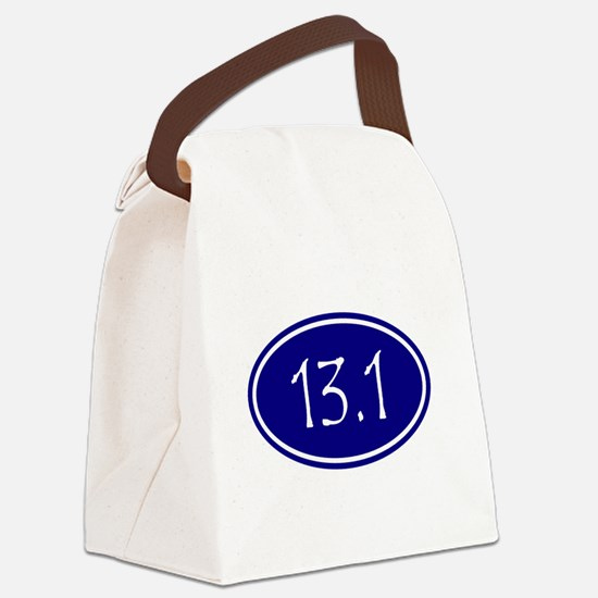 Blue 13.1 Oval Canvas Lunch Bag