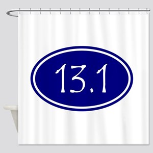 Blue 13.1 Oval Shower Curtain