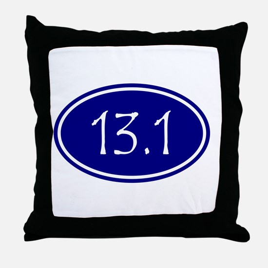Blue 13.1 Oval Throw Pillow