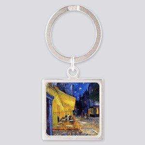 Cafe Terrace At Night By Vincent Van Keychains