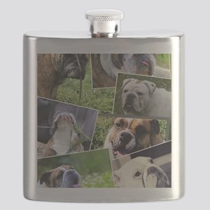 bulldog collage Flask