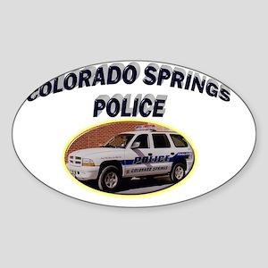 Colorado Springs Police Sticker (Oval)