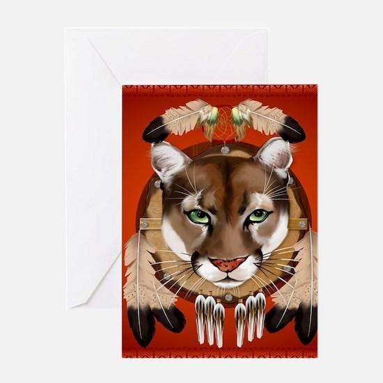 Queen Duvet Cougar Shield Greeting Card