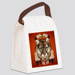 Queen Duvet Cougar Shield Canvas Lunch Bag
