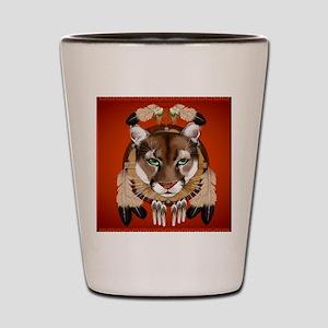 Queen Duvet Cougar Shield Shot Glass