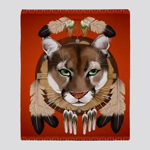 Queen Duvet Cougar Shield Throw Blanket