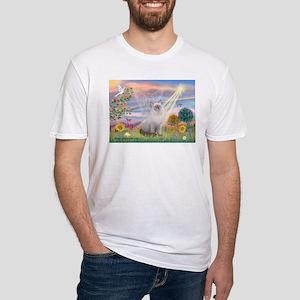 Cloud Angel & Ragdoll Fitted T-Shirt