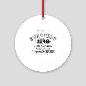 Property of Koko Head Stair Climber Round Ornament