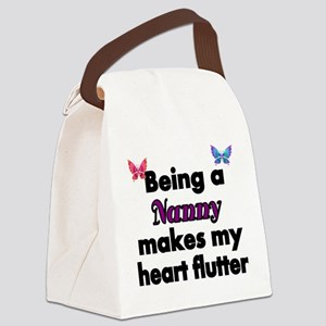 Being a Nanny makes my Heart Flutter Canvas Lunch