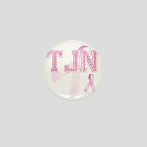 TJN initials, Pink Ribbon, Mini Button