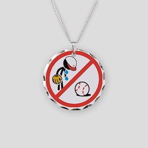No Crying in Baseball Necklace Circle Charm