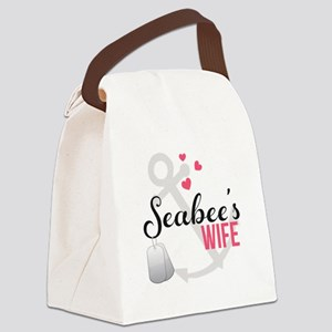 Seabee's Wife Canvas Lunch Bag