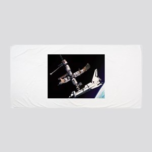 Atlantis & The Space Station Beach Towel