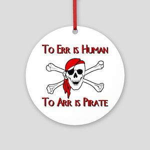 Pirate Round Ornament