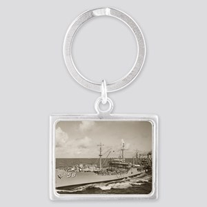 manatee large framed print Landscape Keychain