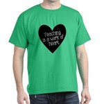 Teacher Heart Dark T-Shirt