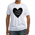 Teacher Heart Fitted T-Shirt