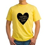Teacher Heart Yellow T-Shirt