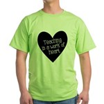 Teacher Heart Green T-Shirt