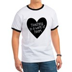 Teacher Heart Ringer T