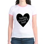 Teacher Heart Jr. Ringer T-Shirt