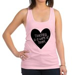 Teacher Heart Racerback Tank Top