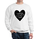 Teacher Heart Sweatshirt
