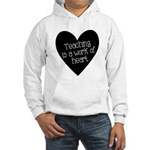Teacher Heart Hooded Sweatshirt