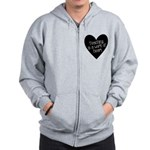 Teacher Heart Zip Hoodie