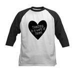 Teacher Heart Kids Baseball Jersey