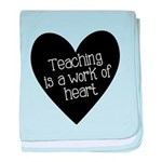 Teacher Heart baby blanket