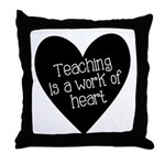 Teacher Heart Throw Pillow