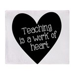 Teacher Heart Throw Blanket