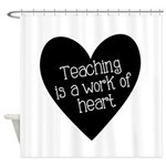 Teacher Heart Shower Curtain