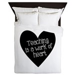 Teacher Heart Queen Duvet