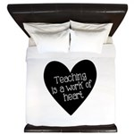 Teacher Heart King Duvet