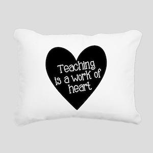 Teacher Heart Rectangular Canvas Pillow