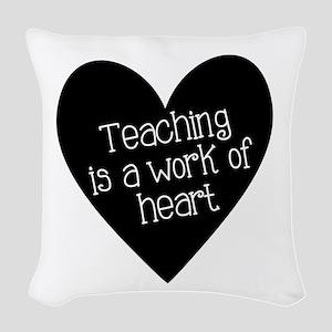 Teacher Heart Woven Throw Pillow