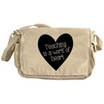 Teacher Heart Messenger Bag