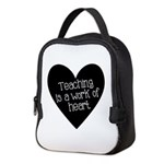 Teacher Heart Neoprene Lunch Bag