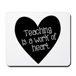Teacher Heart Mousepad